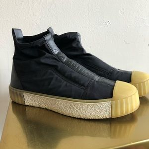 Zara rubber neoprene ankle booties 40